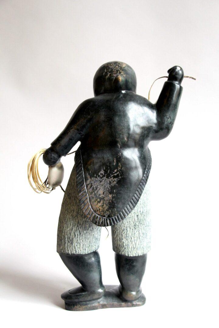 hunter Inuit Art Sculpture in Serpentine
