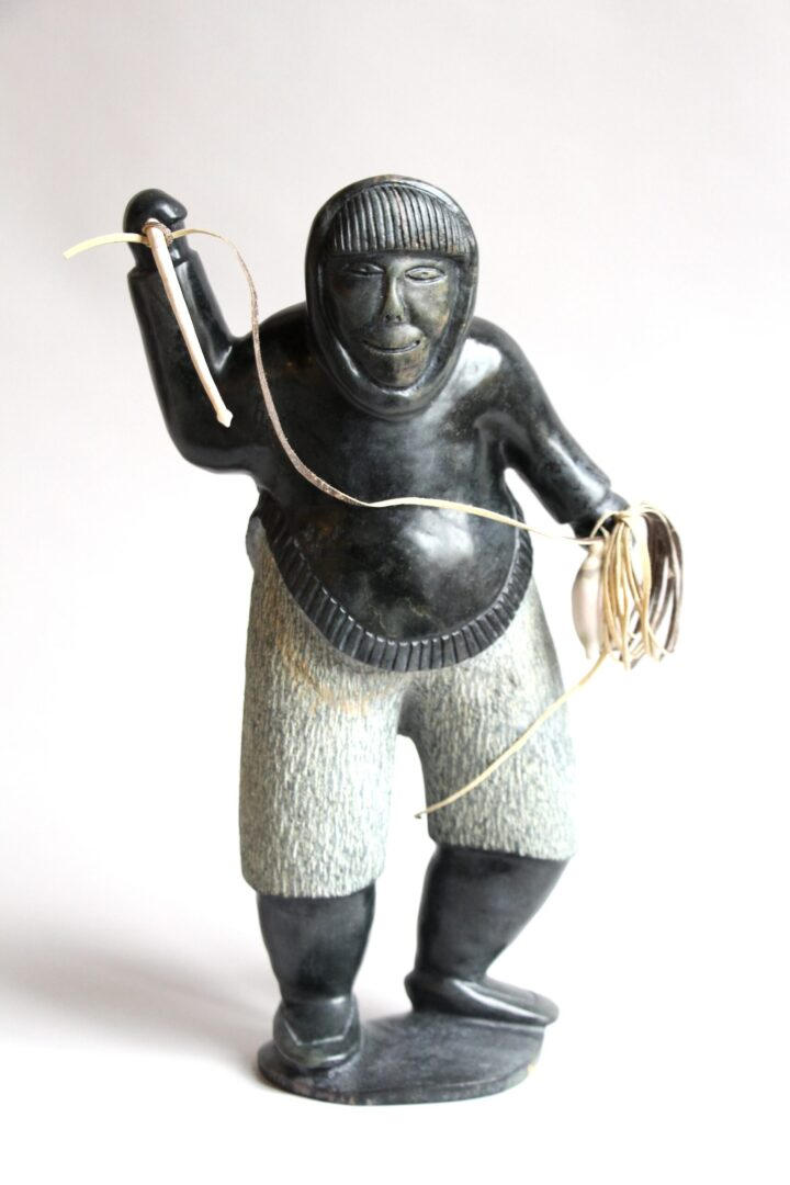 hunter Inuit Art Sculpture in Serpentine