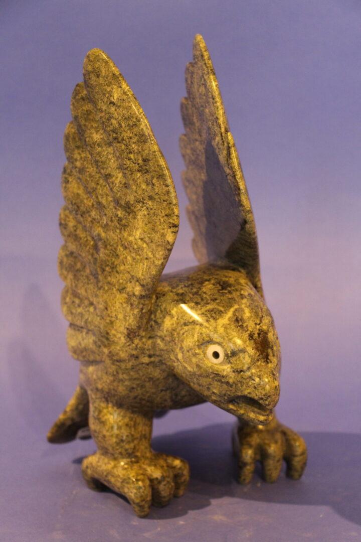 eagle Inuit Art Sculpture in Serpentine