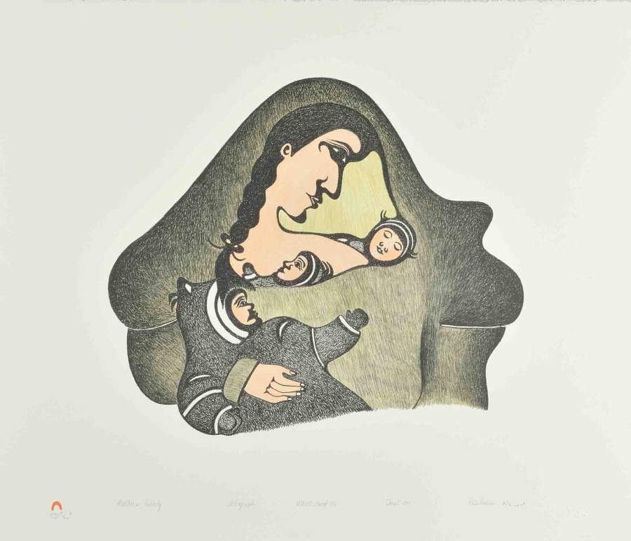 mother's lullaby Inuit Art Litograph