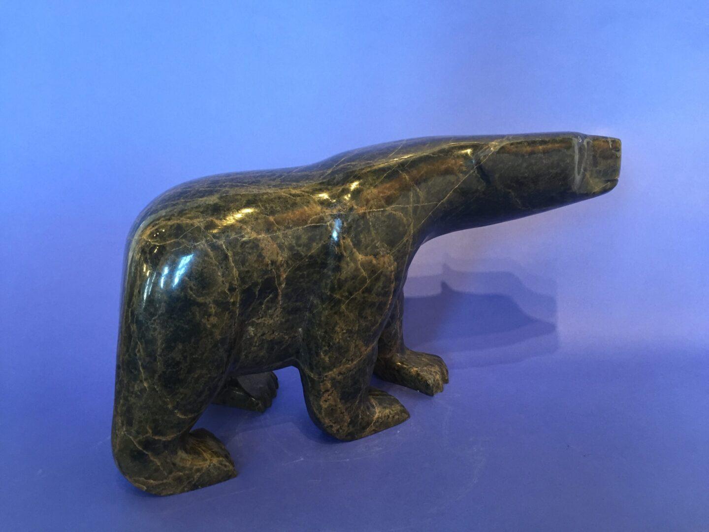 bear Inuit Art Sculpture in Serpentine