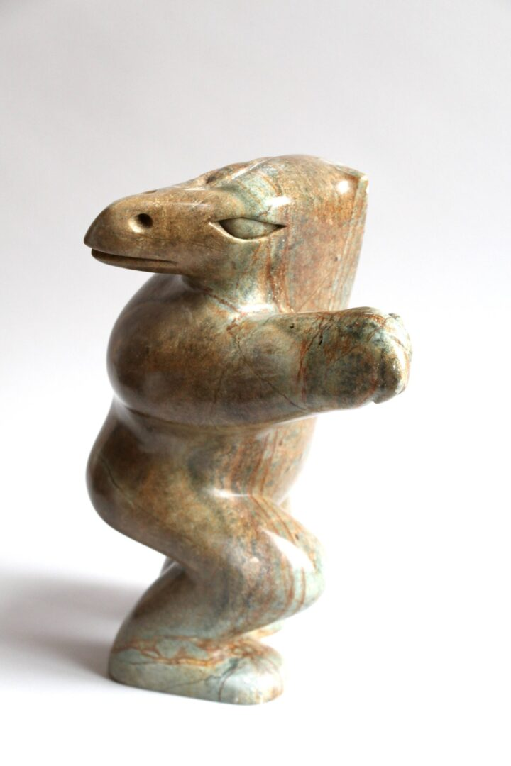 bird shaman Inuit Art Sculpture in soapstone