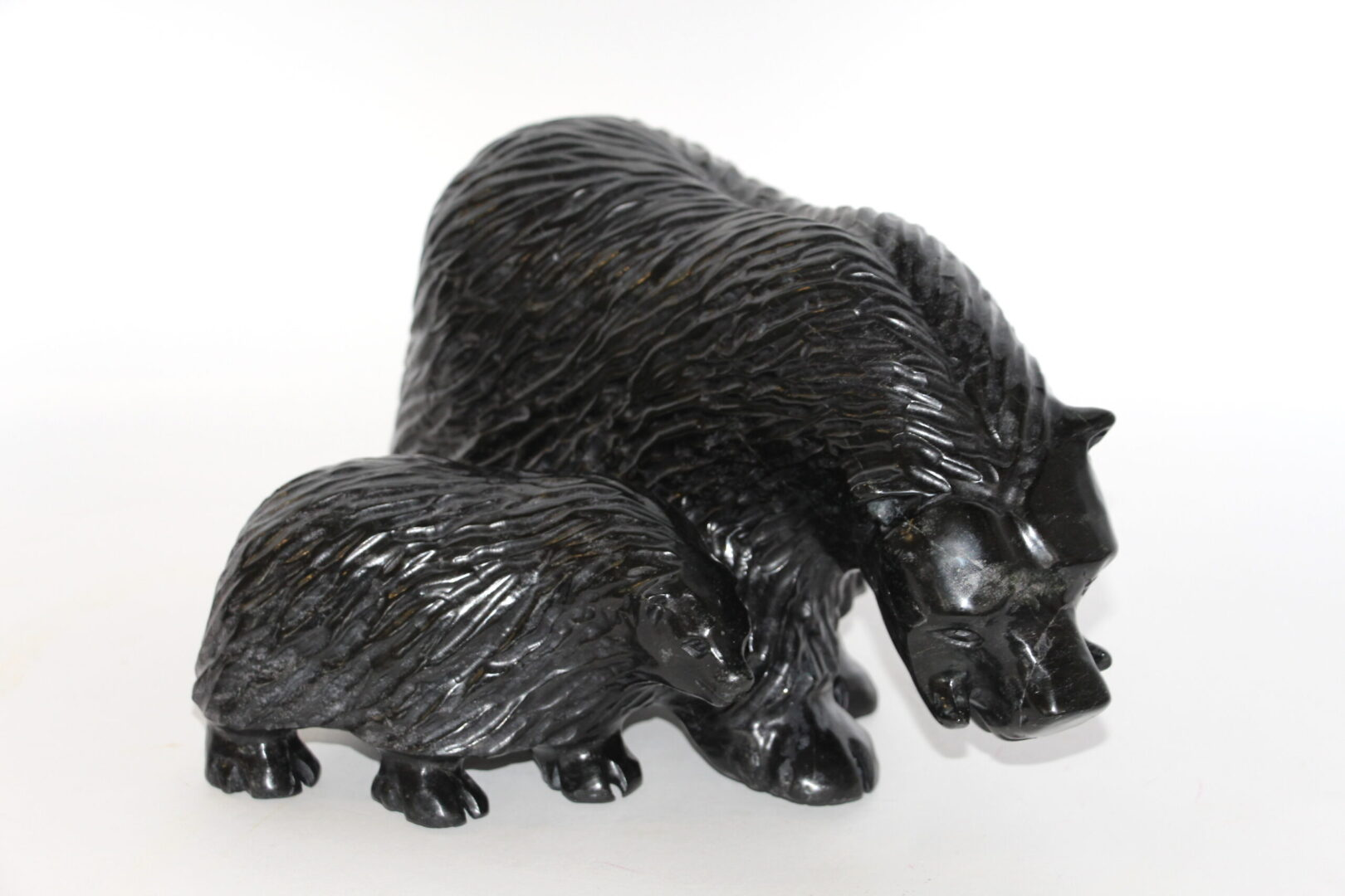muskox Inuit Art Sculpture in Serpentine