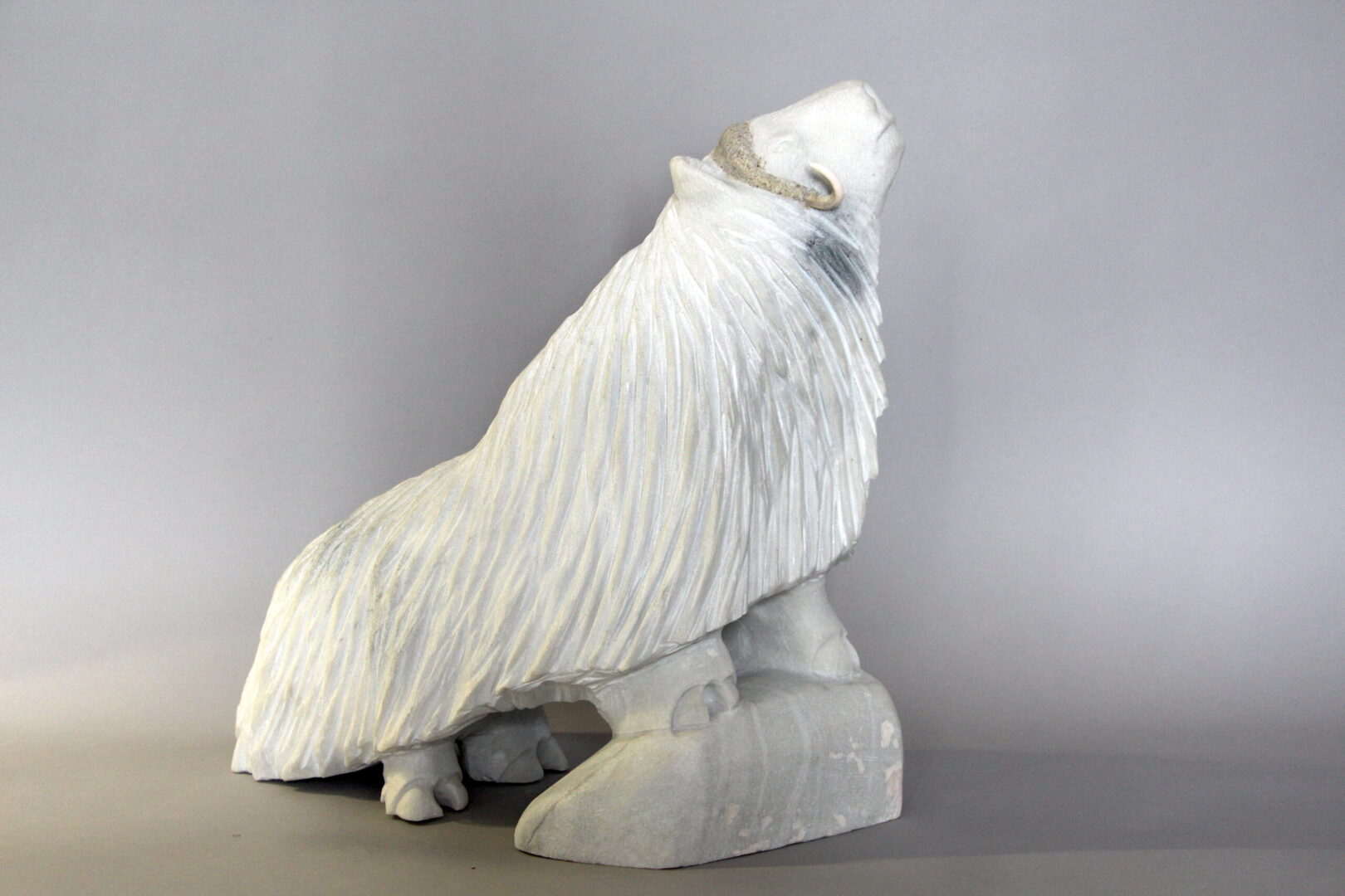muskox Inuit Art Sculpture in marble