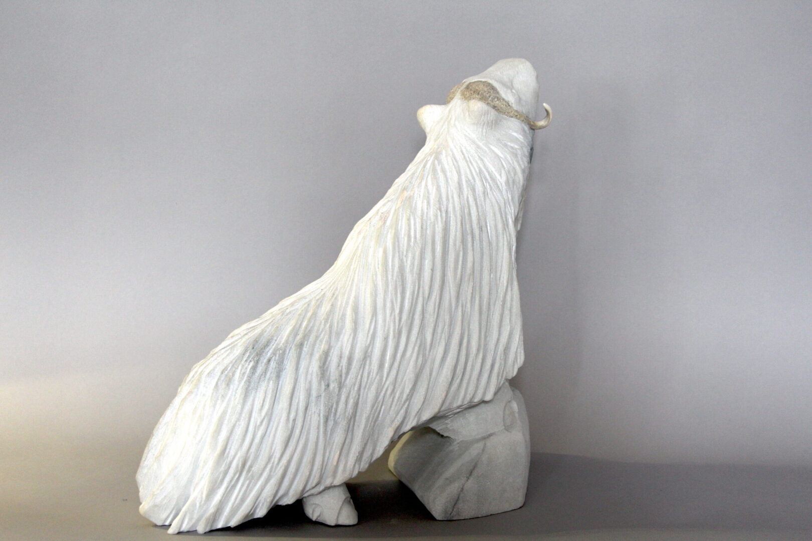 muskox Inuit Art Sculpture in marble