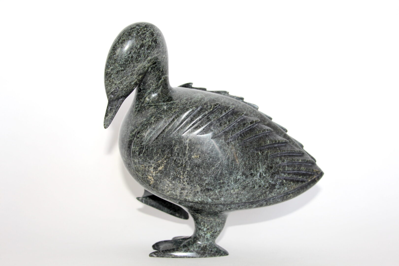 bird Inuit Art Sculpture in Serpentine