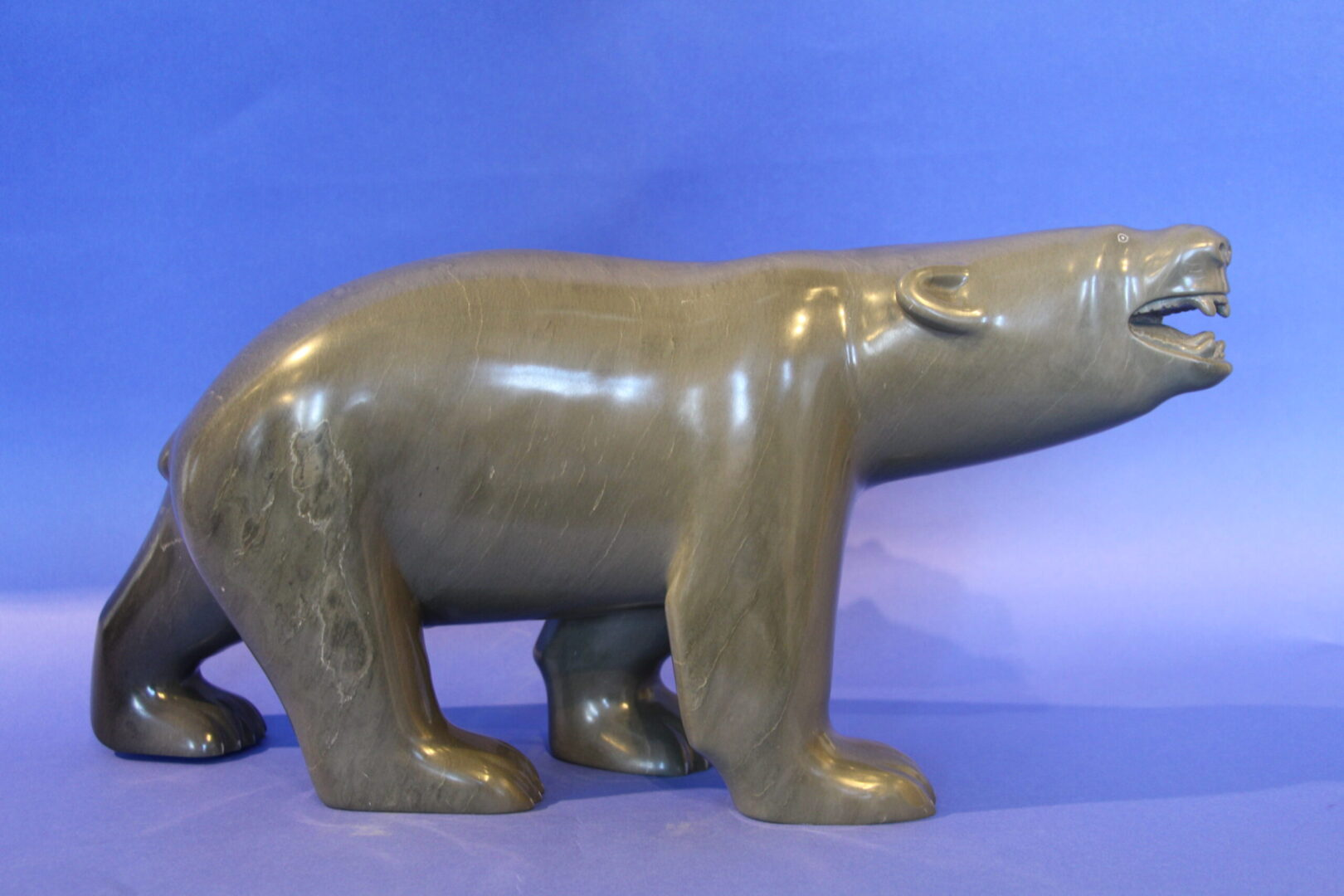 bear Inuit Art Sculpture in Soapstone