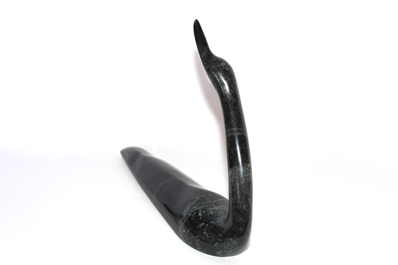loon Inuit Art Sculpture in Serpentine