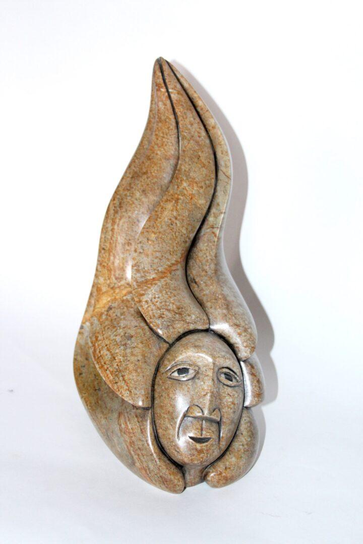 corn spirit Iroquois Art Sculpture in soapstone