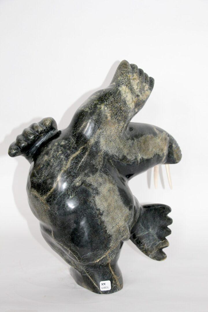 dancing walrus Inuit Art Sculpture in Serpentine