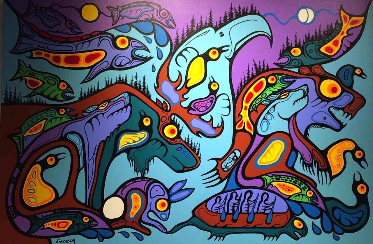 Mother Nature in Dream State ojibway art painting