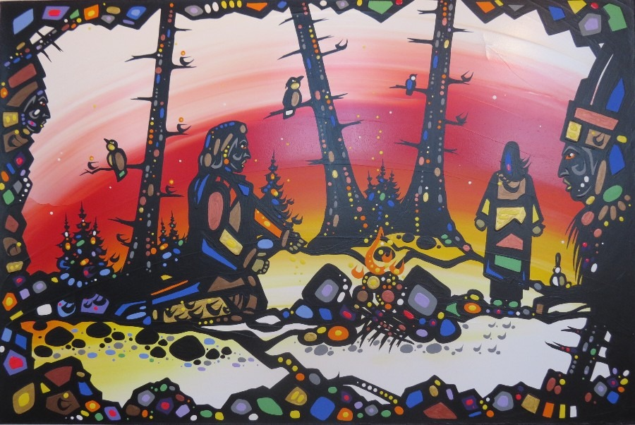 alone at last ojibway art painting