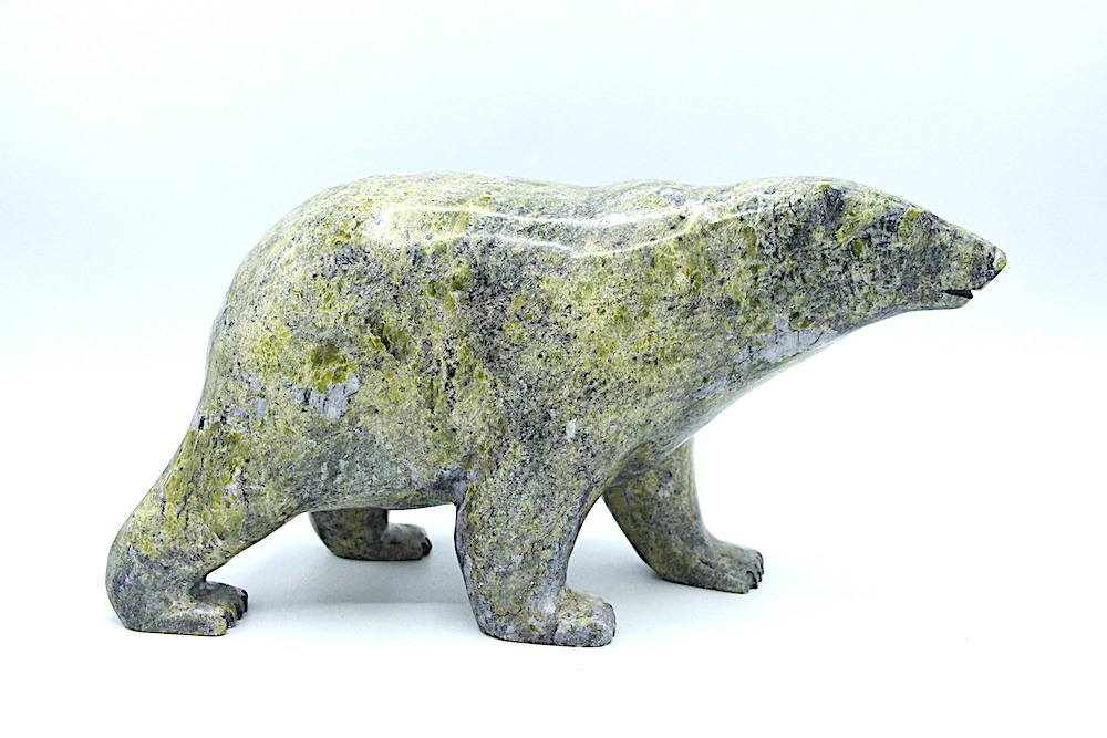 bear Inuit Art Sculpture in Serpentine