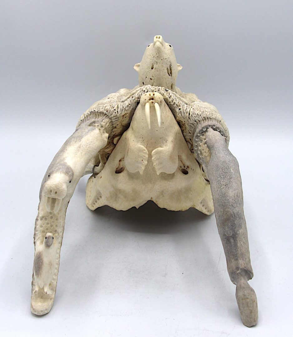collage Inuit Art Sculpture in walrus ivory