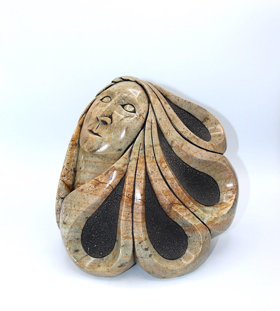 maiden iroquois art sculpture soapstone