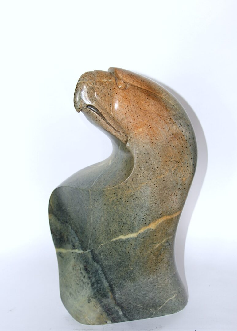 Eagle Iroquois Art Sculpture in soapstone