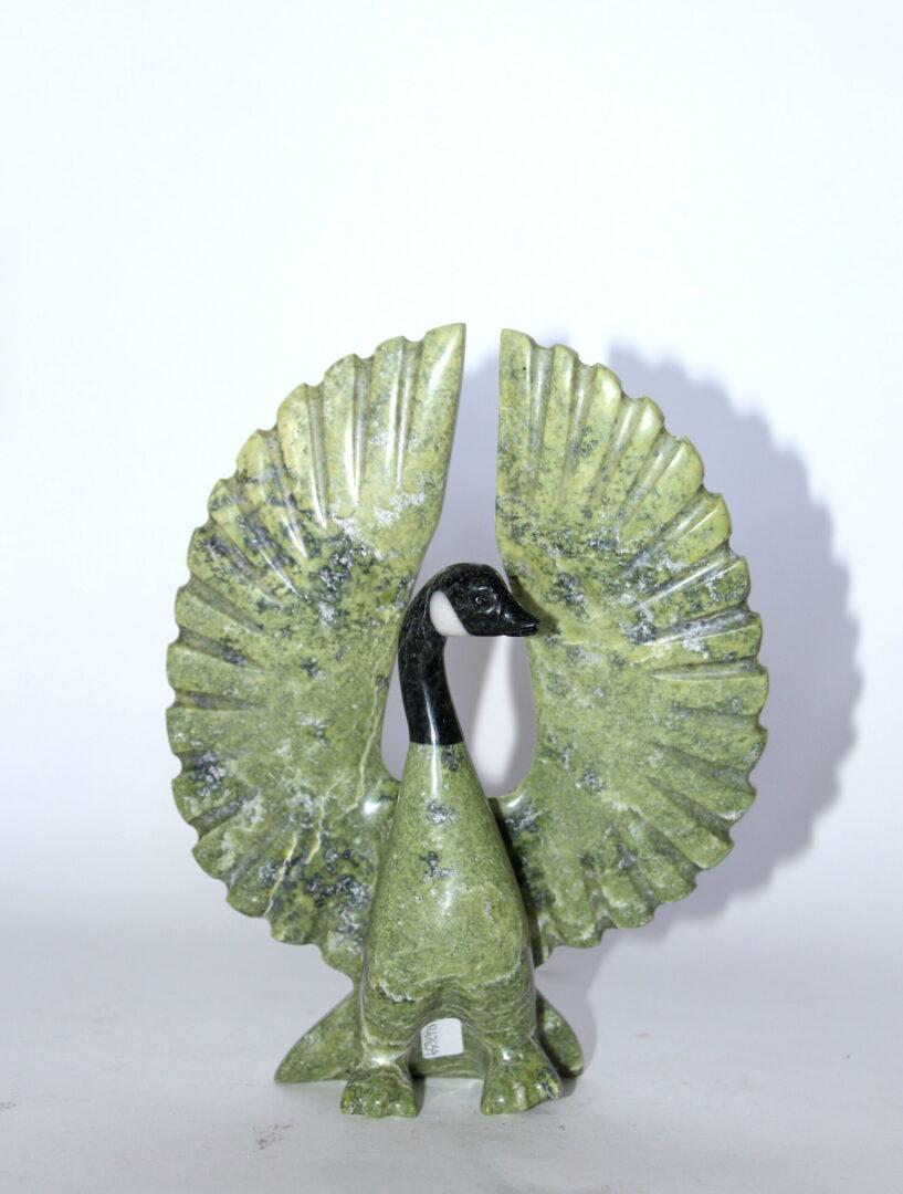 goose serpentine inuit art sculpture