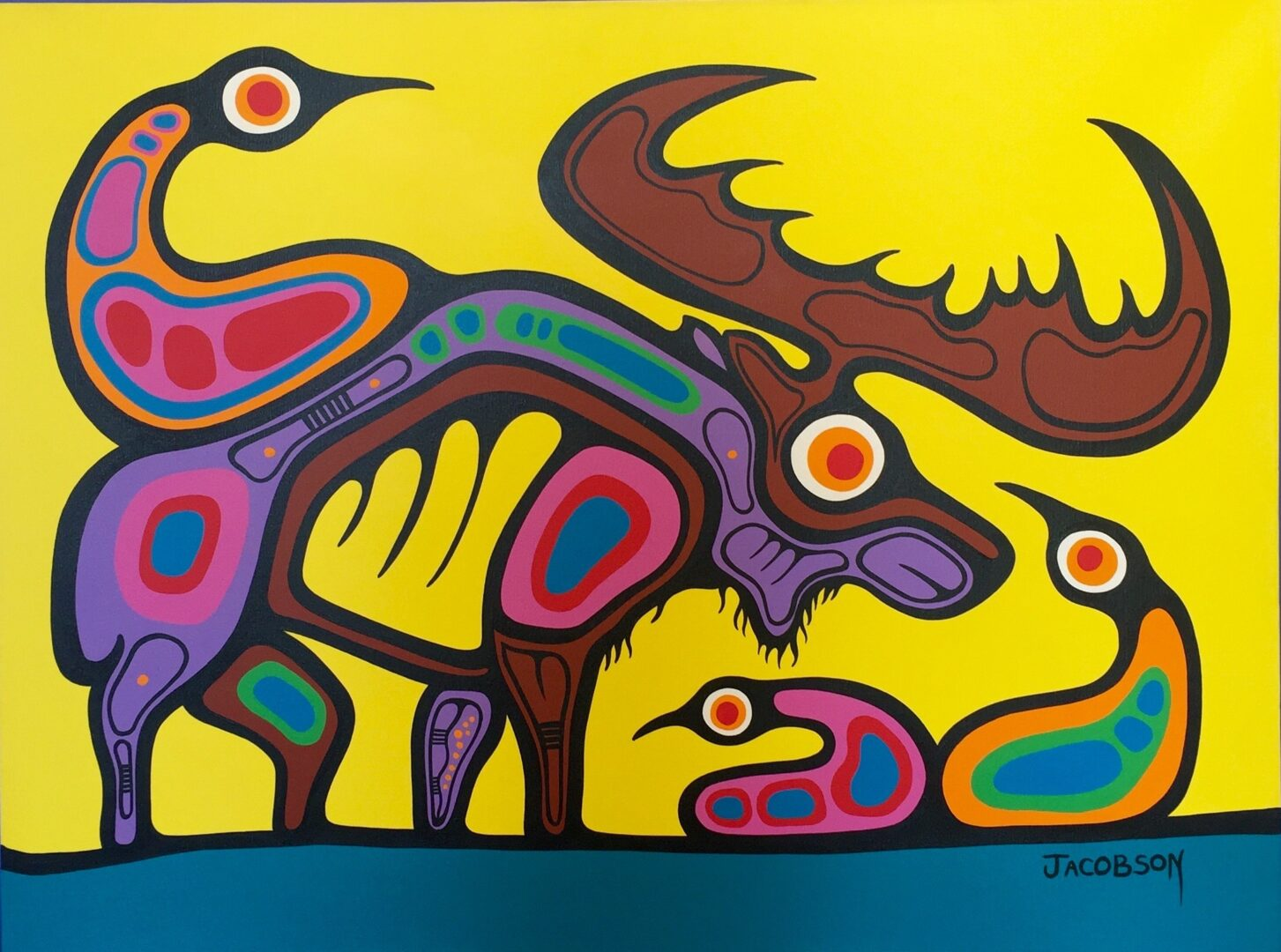 Enlightenment Through The Animal Kingdoms Of Mother Nature ojibway art painting