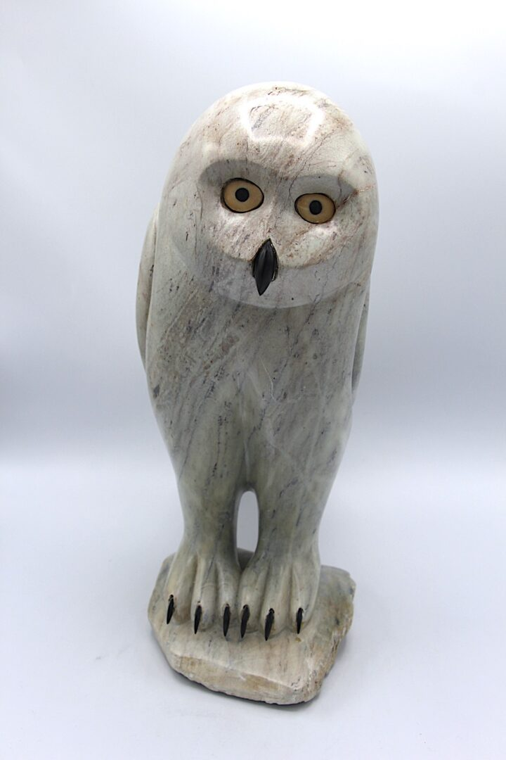 owl Inuit Art Sculpture in Soapstone