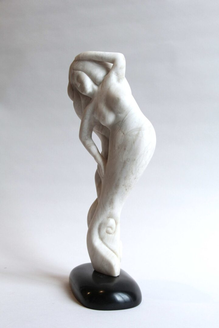 sedna Inuit Art Sculpture in Serpentine and marble