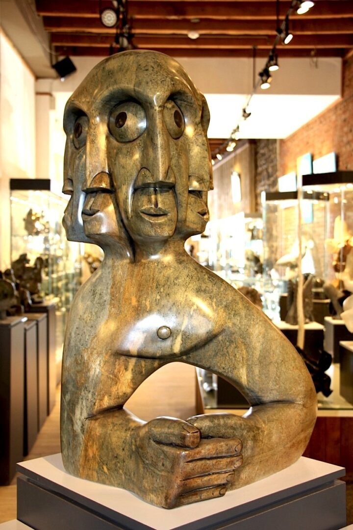outside myself Iroquois Art Sculpture in soapstone