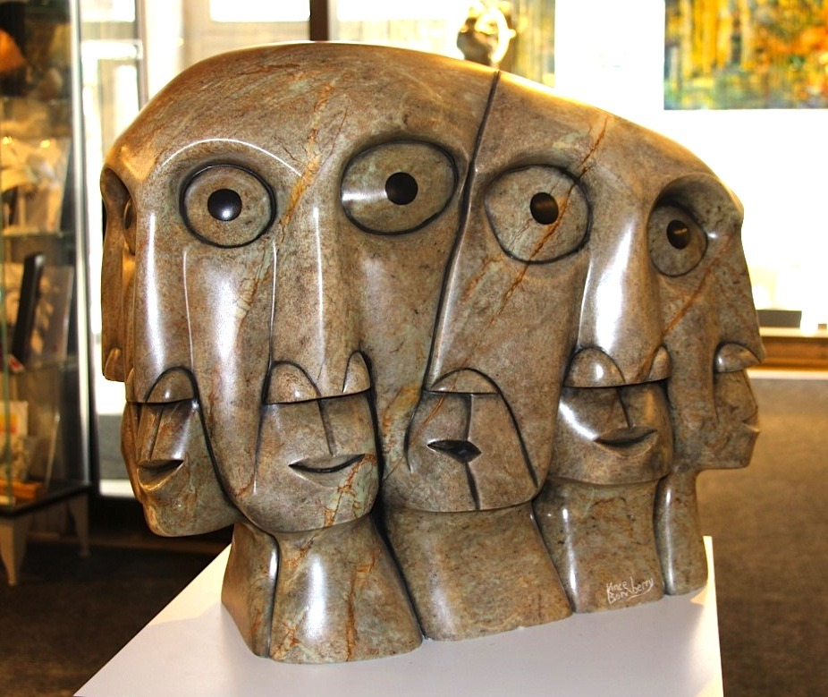 Faces Iroquois Art Sculpture in Soapstone