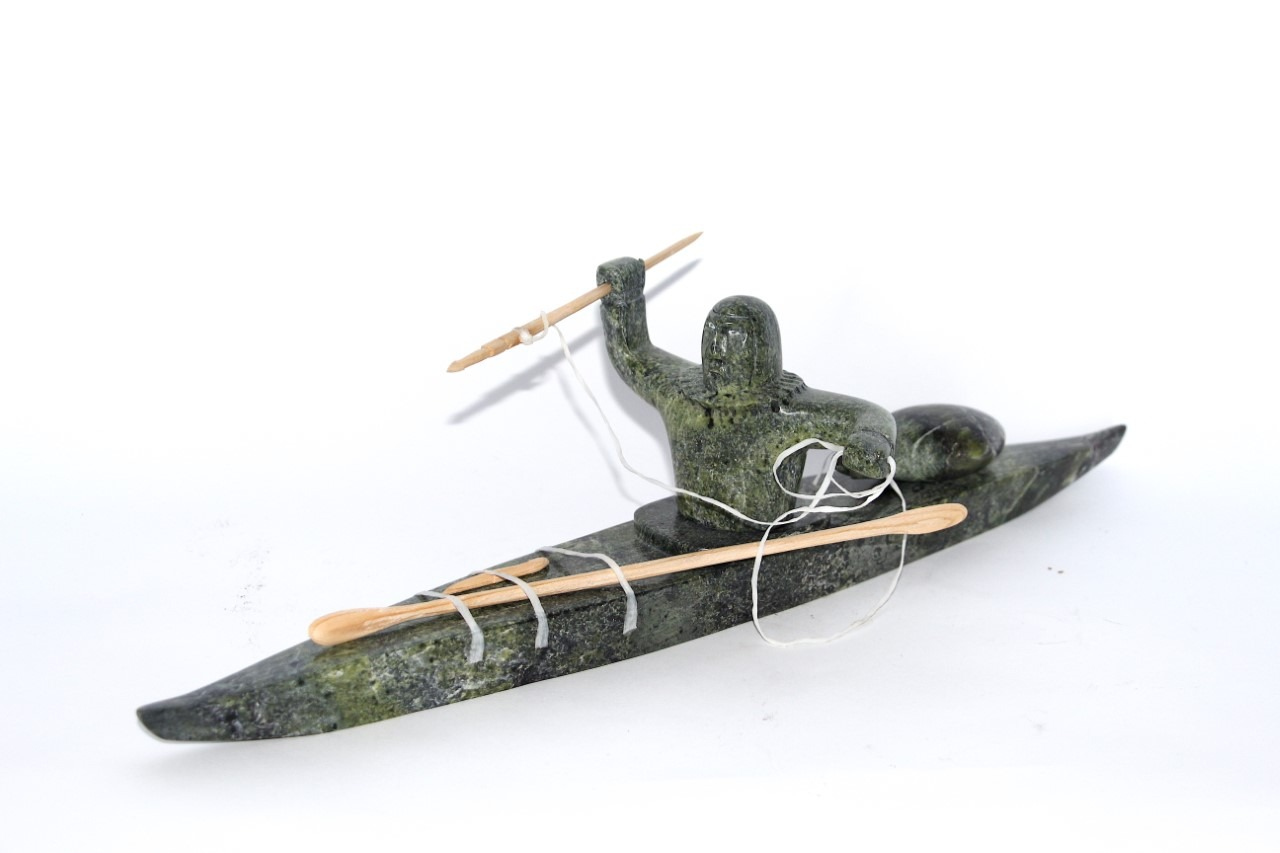 Kayaker Inuit art Sculpture Serpentine