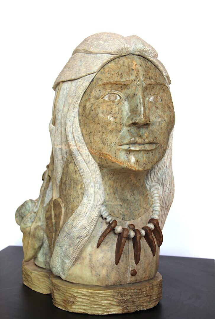 wisdom Iroquois Art Sculpture in soapstone