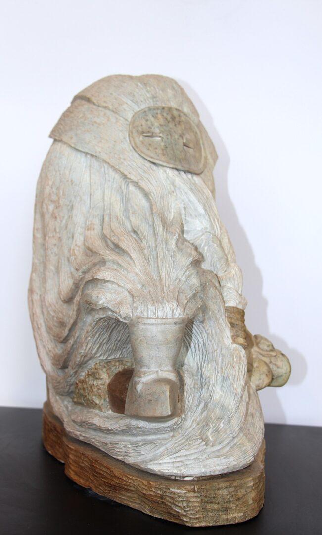 wisdom Iroquois Art Sculpture in soapstone
