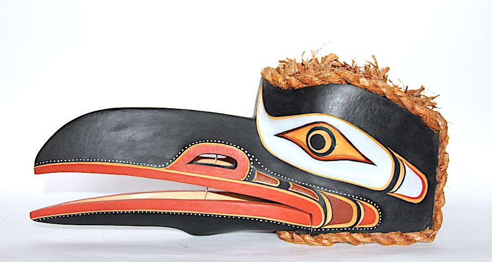 hamasa raven west coast art in cedar wood