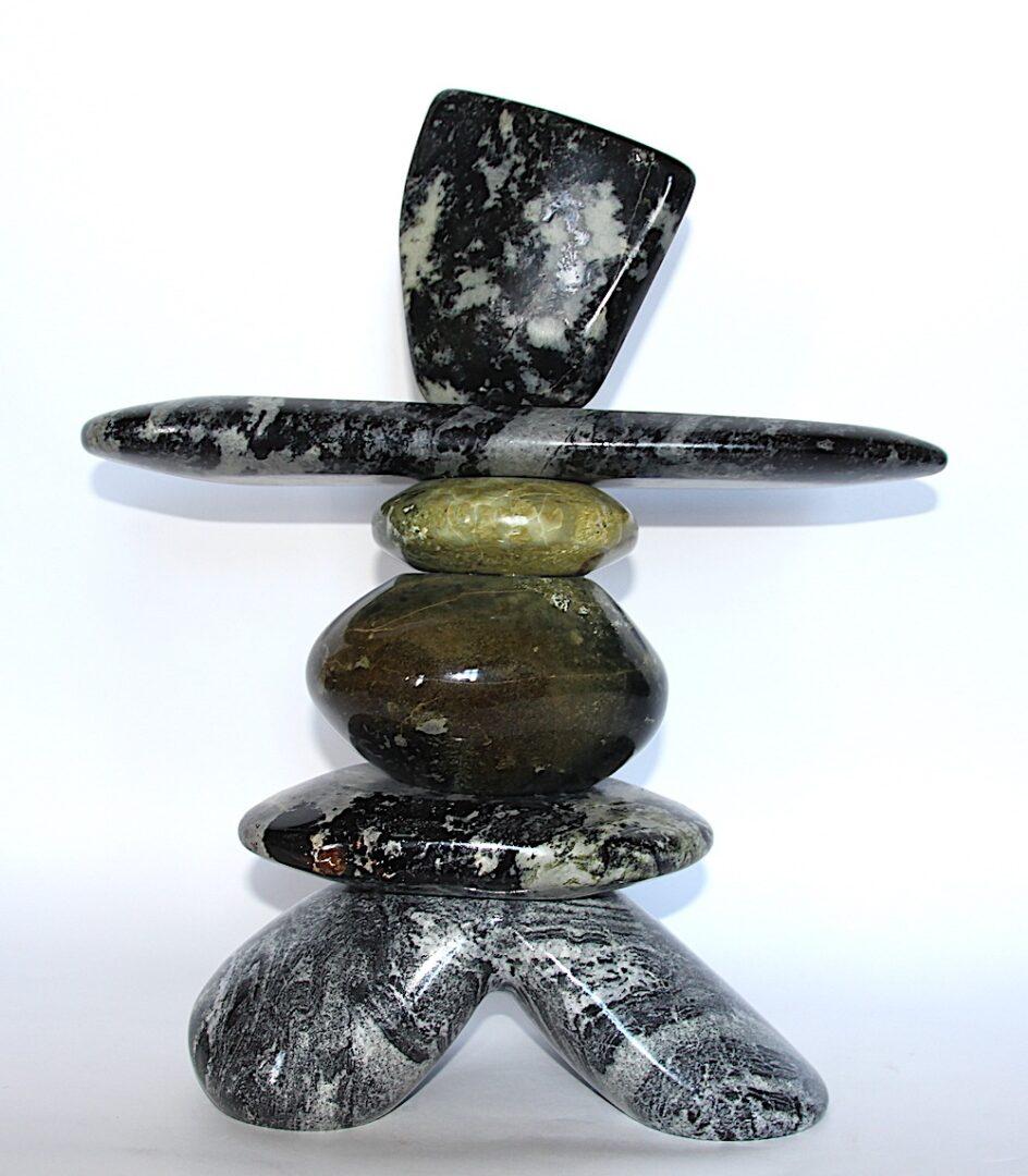Inukshuk Ojibway art sculpture serpentine