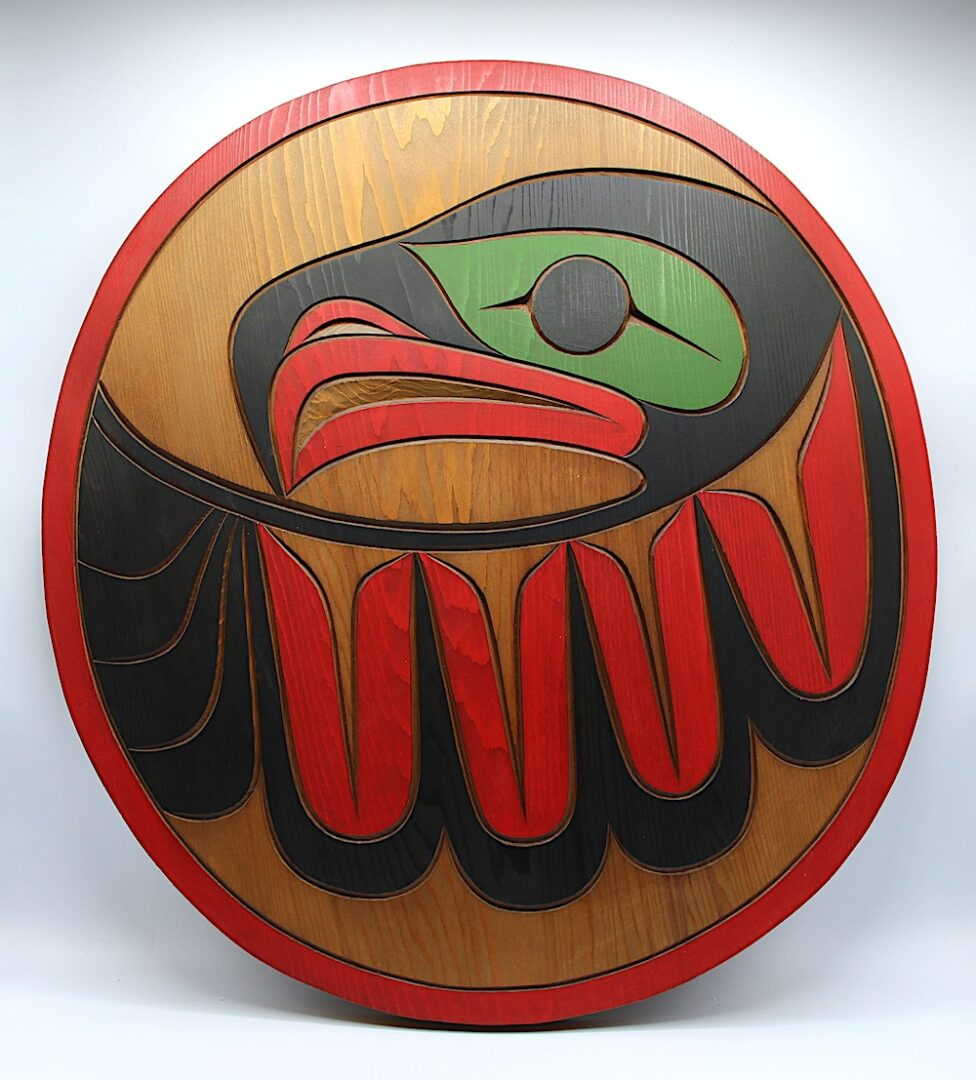 eagle west coast art in cedar wood