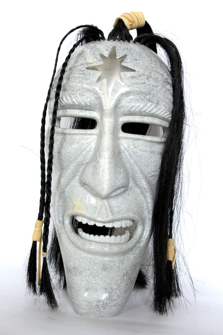 mask Ojibway art sculpture serpentine