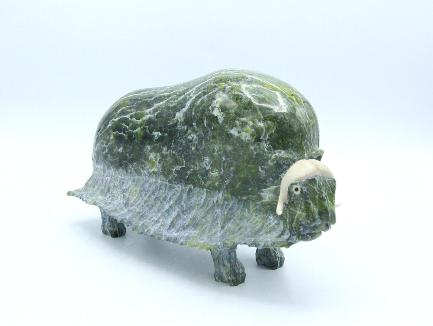 musk ox Inuit Art Sculpture in Serpentine