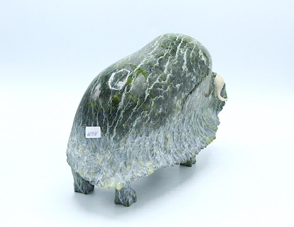 musk ox Inuit Art Sculpture in Serpentine