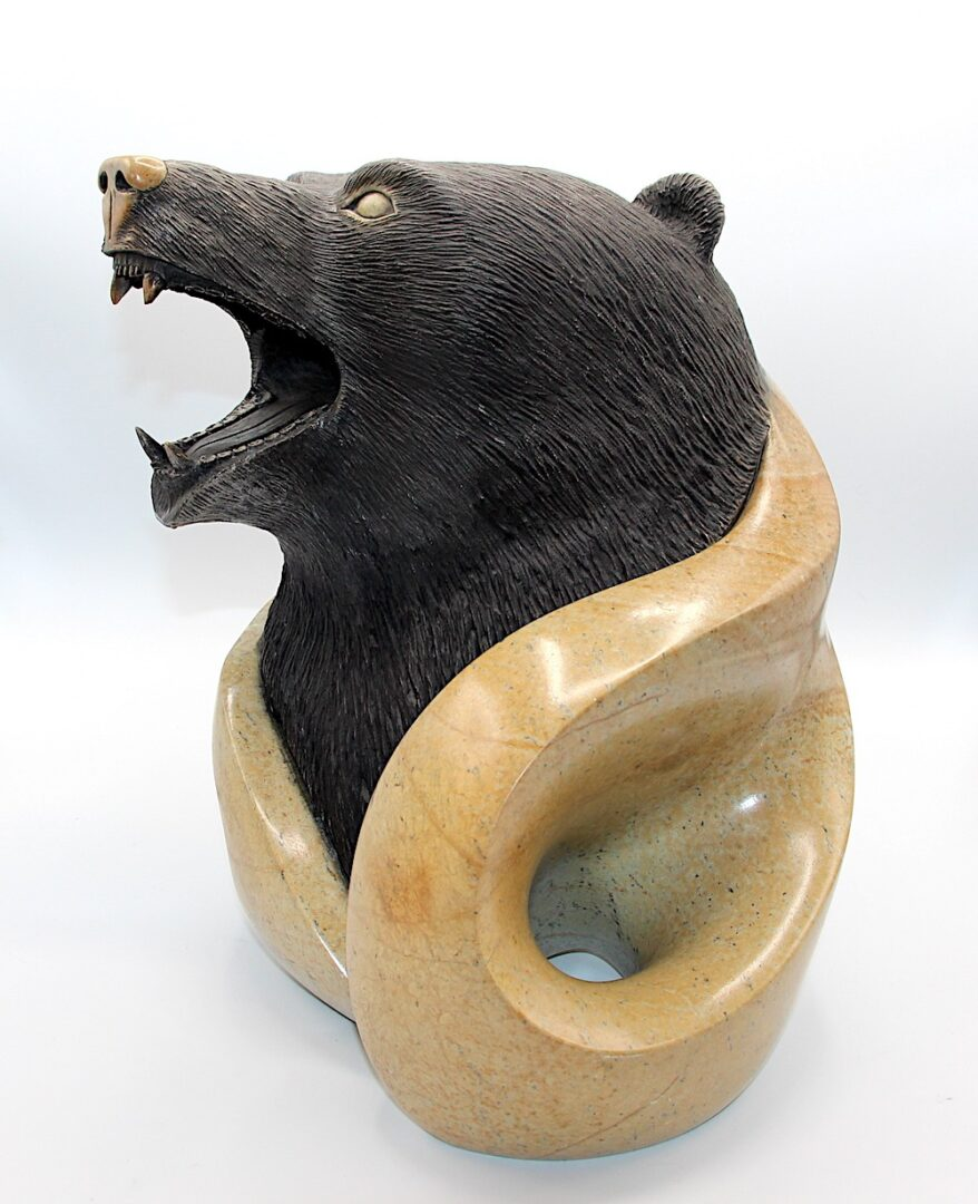bear spirit sculpture iroquois art soapstone