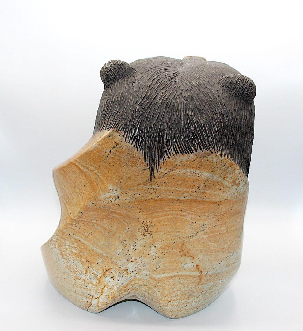 bear spirit sculpture iroquois art soapstone