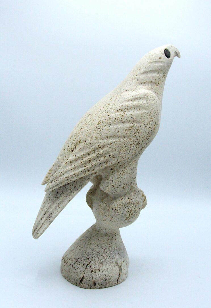 bird inuit art sculpture in whale bone
