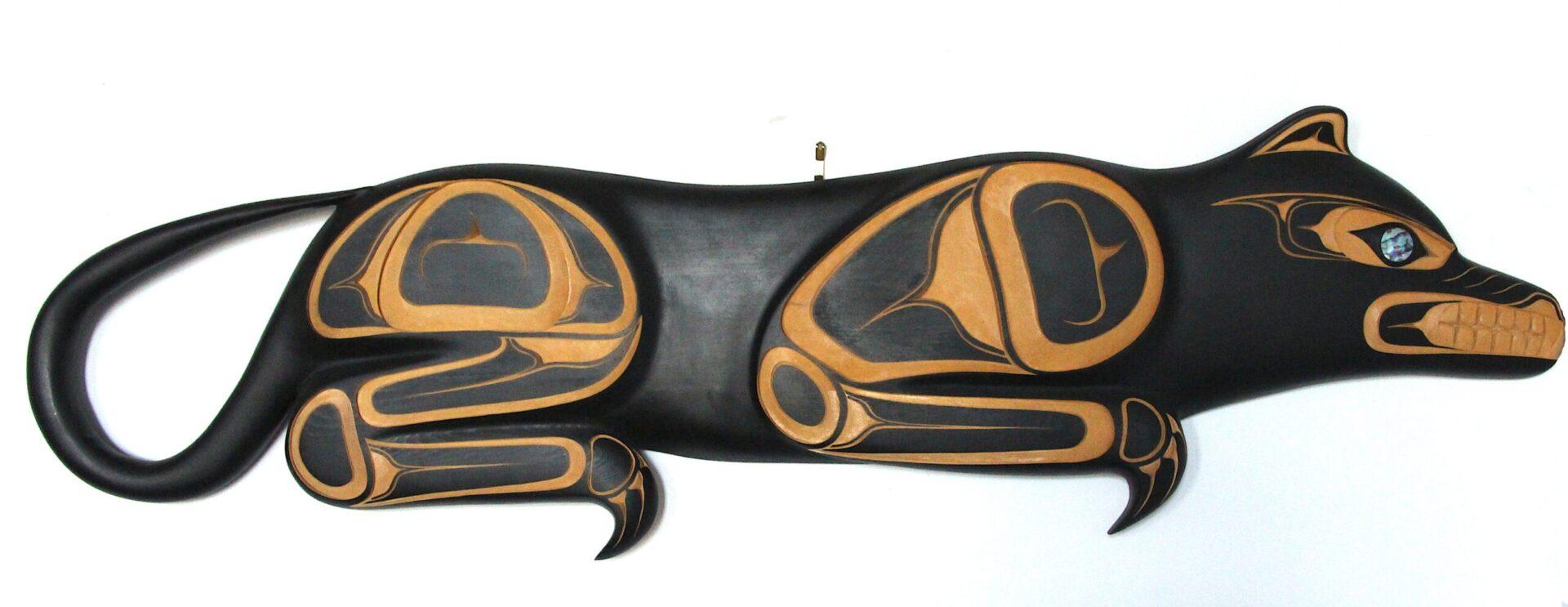 cougar west coast art in cedar wood