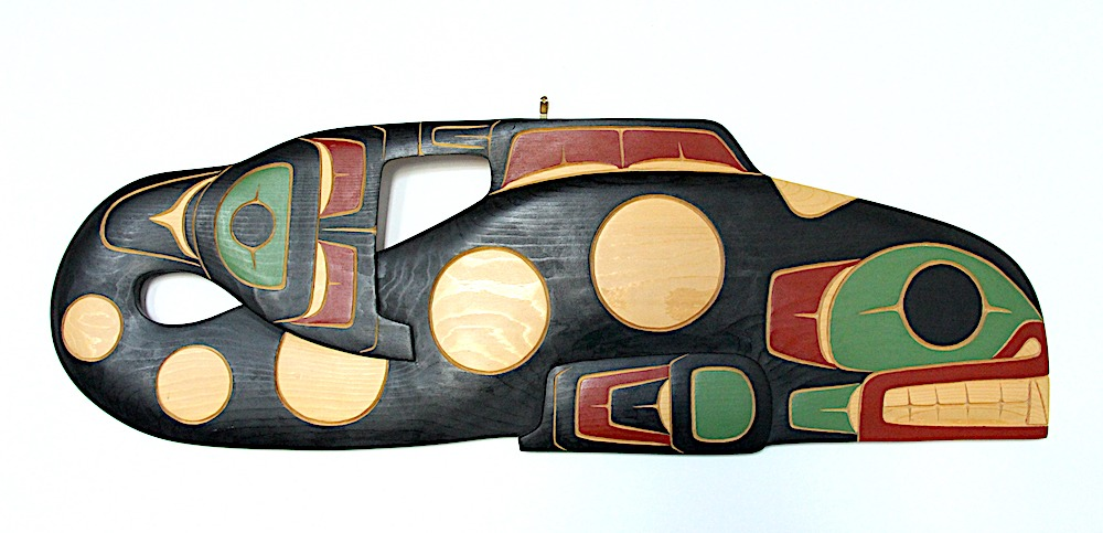 killer whale west coast art in cedar wood
