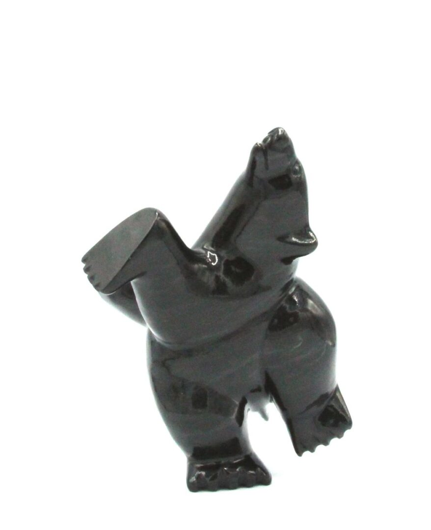 dancing bear serpentine art sculpture cape dorset