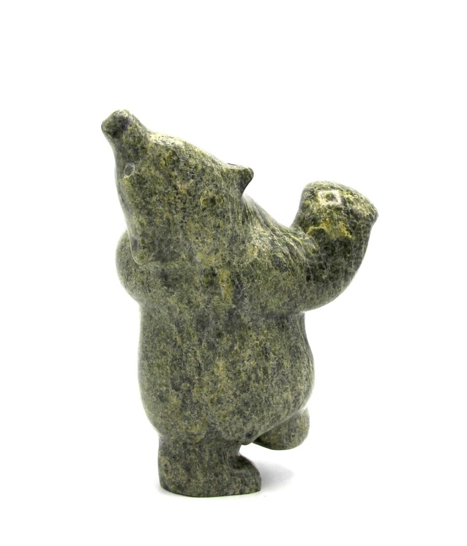 Dancing Bear Inuit Sculpture Serpentine