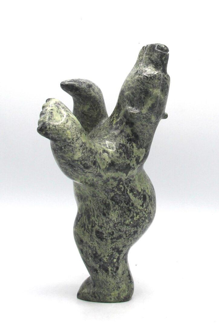 dancing bear inuit art sculpture cape dorset
