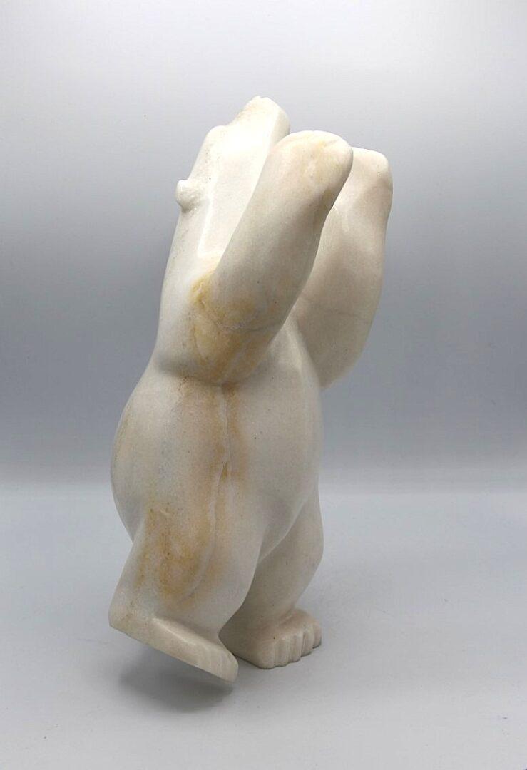 dancing bear inuit art sculpture cape dorset marble