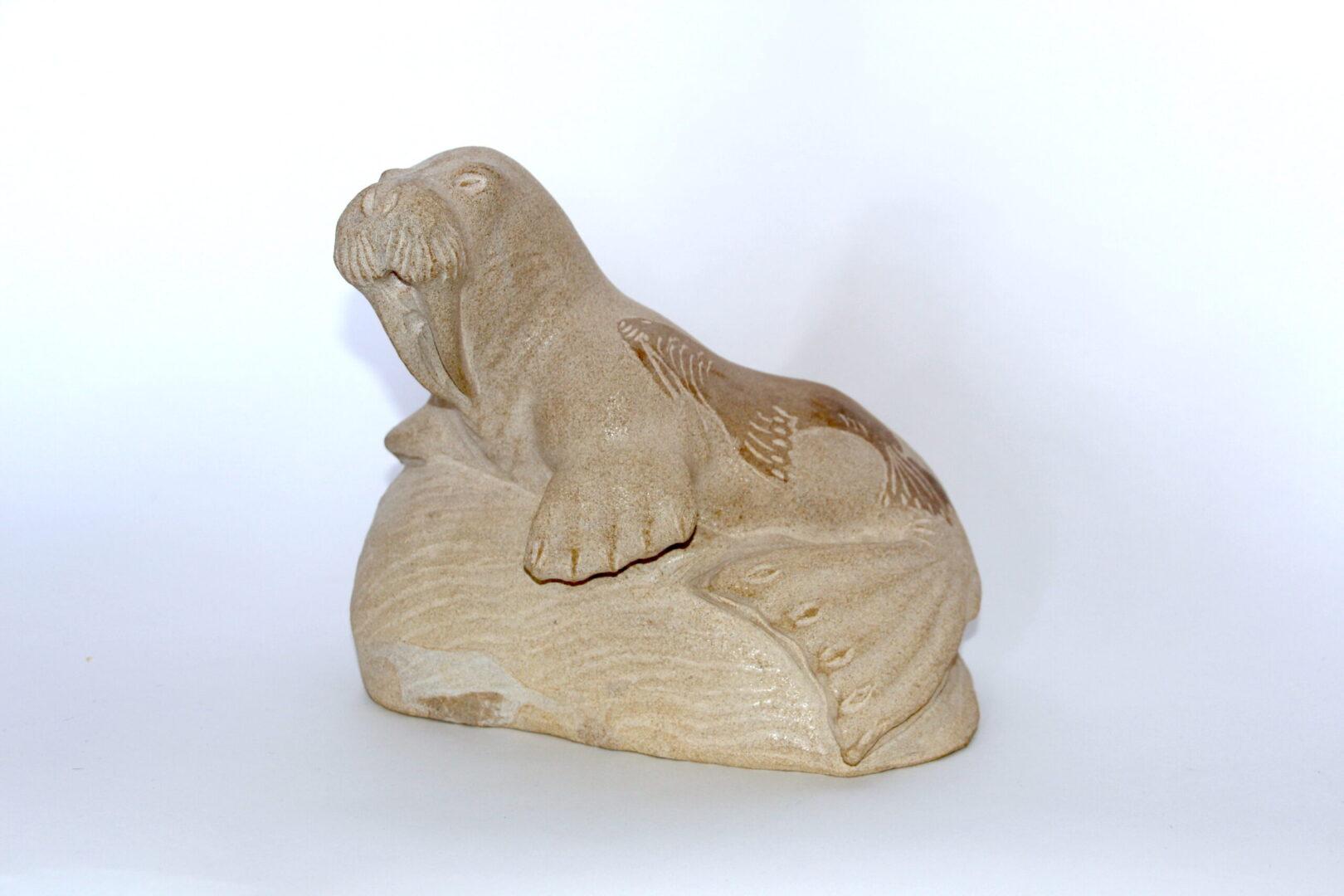 Inuit Art Sculpture made of limestone igloolik
