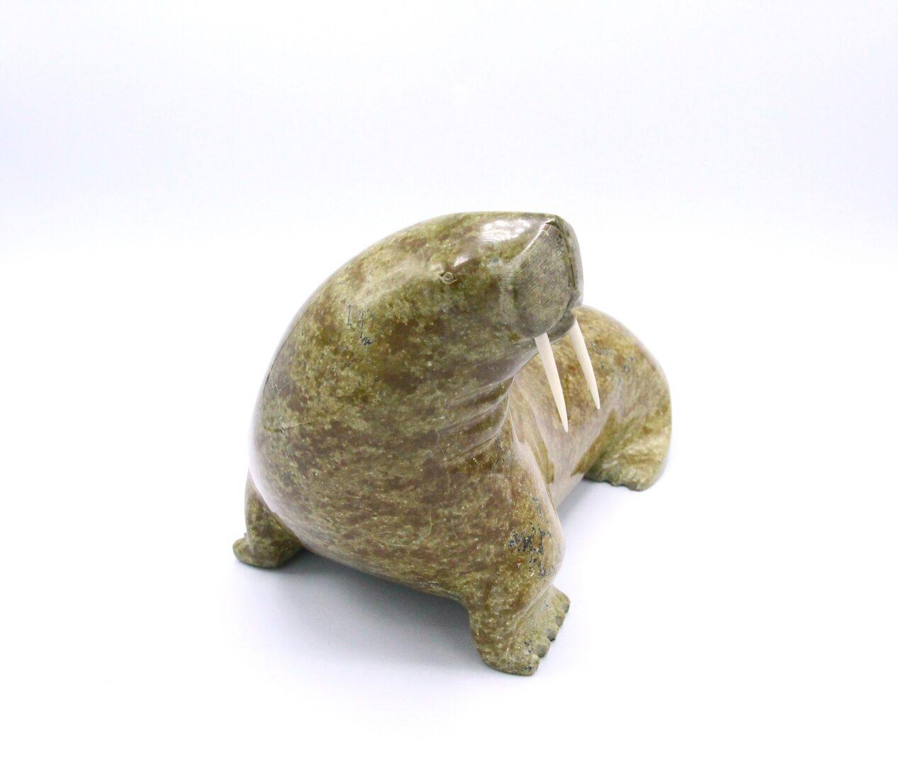 walrus Inuit Art Sculpture in Serpentine