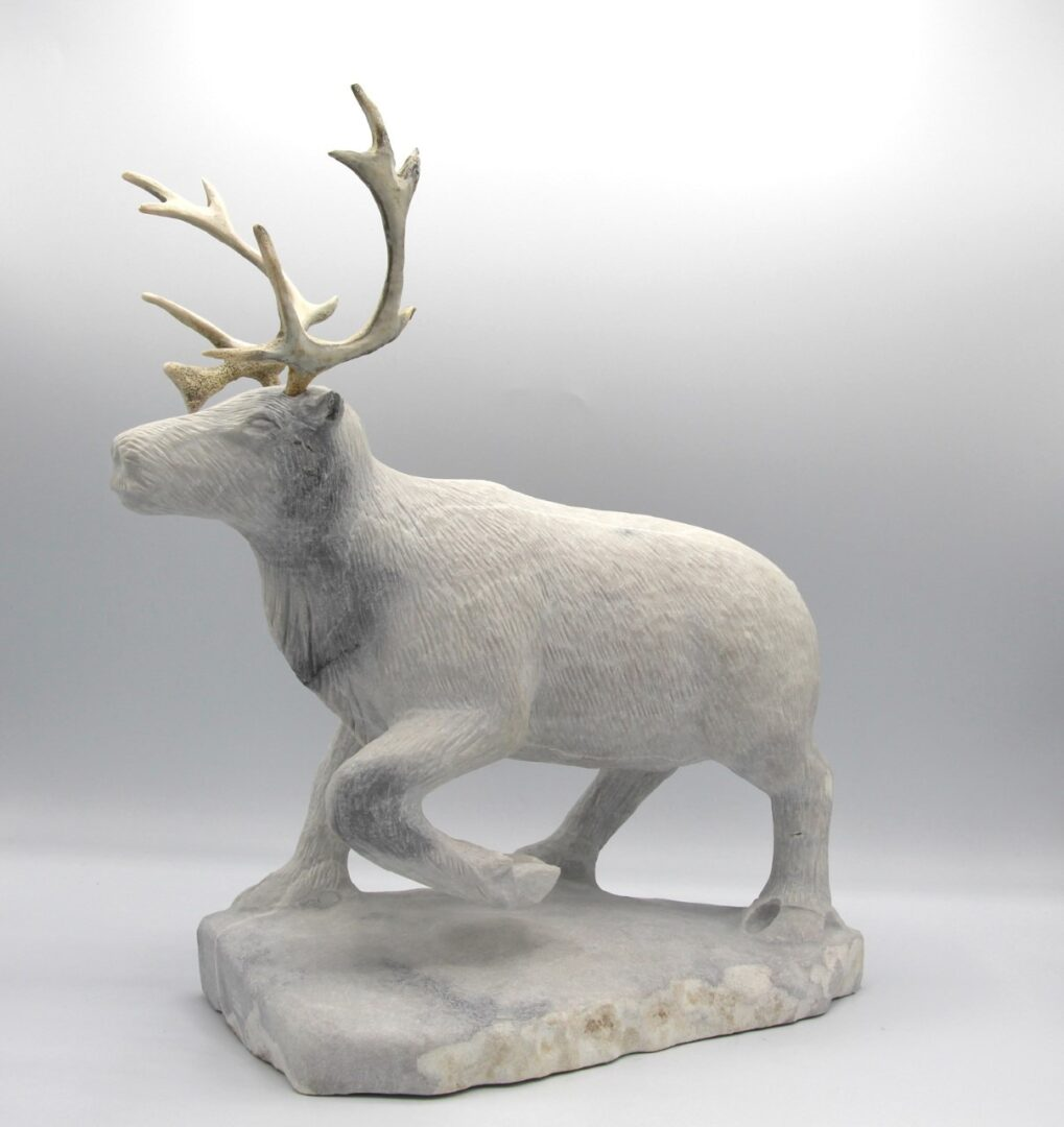 Billy merkosak caribou inuit art sculpture marble