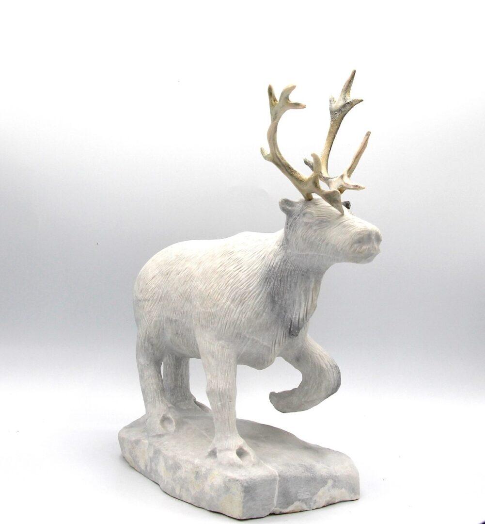 Billy merkosak caribou inuit art sculpture marble