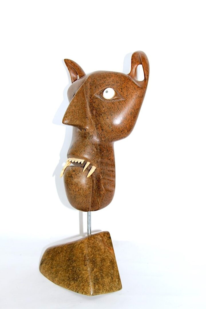 mask inuit sculpture in soapstone
