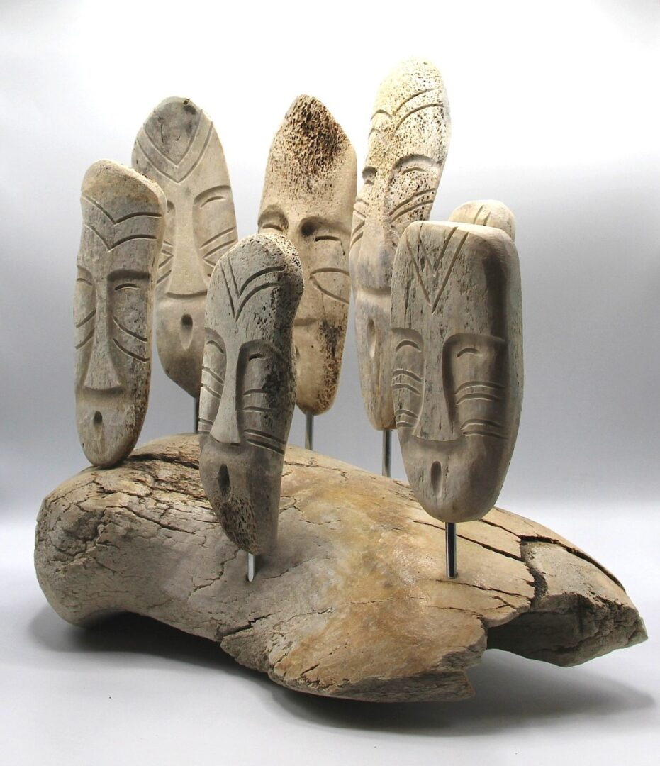 shaman spirit inuit art sculpture in whale bone pond inlet